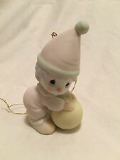 """Precious Moments """"HAPPINESS IS THE LORD"""" Ornament 1985"""