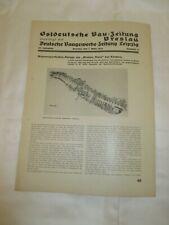 1934 Wassersporthafen BREITEN HORN Kladow - OSTDEUTSCHE BAU ZEITUNG BRESLAU