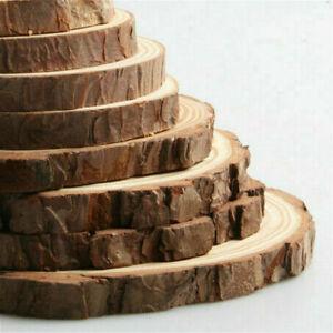 2X Natural Wood Log Slices Discs 14cm-20cm Wedding Table Decor DIY Crafts New