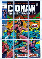 1976 MARVEL PUZZLE TRADING CARD SET CONAN THE BARBARIAN
