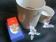 Swarovski Puppet, Baby Doll & Rooster All Boxed