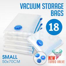 18 x Vacuum Storage Bags - SMALL 50x70cm - Space Saving - BULK Buy Saver
