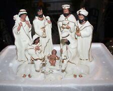 Vintage Christmas Wonder 11 Pc. Porcelain African American Nativity Set