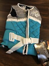 New Jet Pilot Womens Lady Luck Comp Life Jacket Vest Size Small Gray Blue White