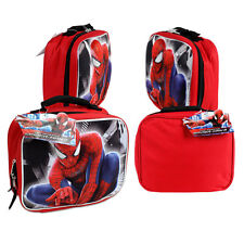 Marvel Hero Spider-Man Pop Up 3D School Insulated Lunch Bag Red Boys Kids 3+ New