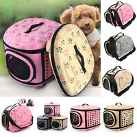 Foldable Pet Dog Cat Sided Carrier Travel Tote Portable Shoulder Bag Cage Kennel