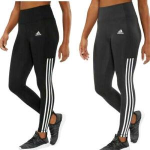 Adidas Ladies' 3 Stripe High Waist 7/8 Active Tight Side Pocket XS S M  L XL