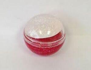 Naturistics Miss Kiss Jingle Gloss Lip Gloss - Red w/Glitter - (clear) - NEW