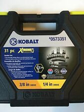 Kobalt Xtreme SAE  Metric Set  3/8 & 1/4 Case 31 Piece SOCKET RACHET pass thru