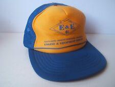 E&E Engine & Equipment Company Hat Vintage Yellow Blue Snapback Trucker Cap