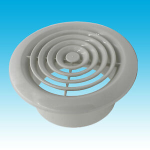 """4"""" 100mm dia White Plastic (Supply/Extract) Grille Vent for extractor fans"""