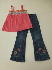 Girls Arizona Size 6X Pink Tank Shirt & Z Cavaricci Size 5 Blue Jeans Outfit
