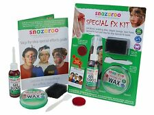 SNAZAROO SPECIAL FX FACE PAINT KIT MAKE UP WAX DARK BLOOD SPONGE BNIB HALLOWEEN