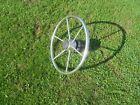 """Vintage Stainless Steel Sail Boat Steering Wheel 16"""" W/Hub & Shaft,Buy Now-Offer"""