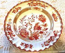 SPODE CHINA VINTAGE  INDIA TREE RUST/ORANGE  DINNER PLATE 10'