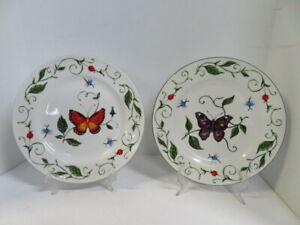 """Tabletops Unlimited Purple or Red BUTTERFLY 10.5"""" Dinner Plate Vine Lady Bug"""
