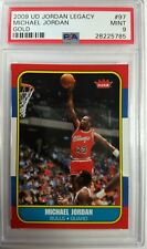 2009 UD Gold Legacy #97 Michael Jordan Rookie RC 1986 Fleer Retro, Low Pop PSA 9