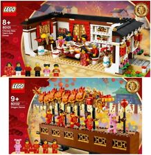 Lego Limited Edition 80101 Chinese New Year's Eve Dinner & 80102 Dragon Dance