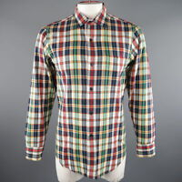AGNES B. Size S Multi-Color Plaid Cotton Long Sleeve Shirt