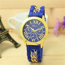 HOT SELLING GENEVA BRAND CHRONOGRAPH STYLED WOMEN'S WRIST WATCH - BLUE