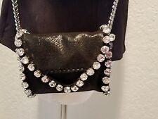NWT Stella McCartney Falabella Black Tiny Crossbody with Crystals Amazing!