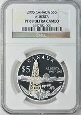 Canada 2005 S$5 Silver Alberta NGC Proof-69 UC