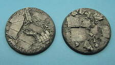 2 X Painted 60mm resin bases rubble Dreadnought Warhammer 40k Dark Imperium