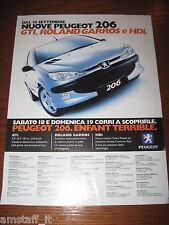 *AI84=PEUGEOT 206 GTI ROLANDO GARROS=PUBBLICITA'=ADVERTISING=WERBUNG=COUPURE=