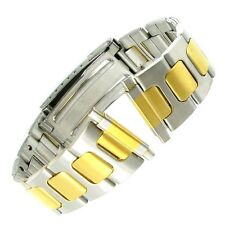 18-22mm Speidel Express Two Tone Stainless Steel Deployment Watch Band 187DT