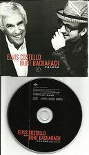ELIVS COSTELLO & BURT BACHARACH Toldeo RARE EDIT Europe Made PROMO DJ CD single