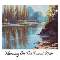 TUMUT RIVER NSW AUSTRALIA RURAL LANDSCAPE  OIL PAINTING Commission G Gercken