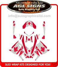 CANADIAN SLED WRAP  for SKI-DOO XP 2008-12  mxz  renegade  decal