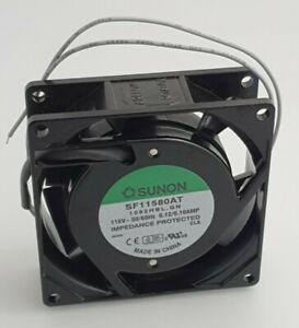 SUNON 115V AC AXIAL FAN SF11580AT 1082HBL.GN 0.12/0.1A - 80 x 80 x 25mm