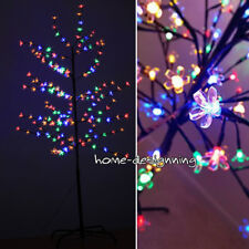 Multi Color 180 LED 5ft Christmas Xmas Cherry Blossom Tree In or Outdoor Pre Lit