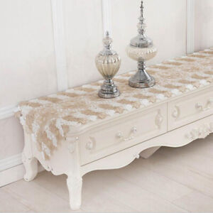 Pastoral Lace Embroidery Table Runner TV Cabinet Cover Cloth Tea Table Cloth YG