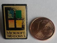 PIN PIN'S BADGE MICROSOFT WINDOWS 3 ORDINATEUR INFORMATIQUE PORT A PRIX COUTANT