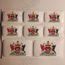 Pegatinas Trinidad y Tobago Escudo de Armas Pegatina Vinilo Adhesivo Resina 3D