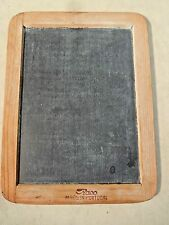 Vintage Childs Slate Chalkboard Double Sided Schoolroom Donald Caldwell Portugal