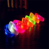 LED Light Voice Control Bracelets Bangle Sound Activated for Party Rave Concert