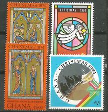 GHANA Scott# 544-547 Navidad 1974