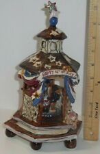 Music Box Blue Sky Clayworks Heather Goldminc Yankee Doodle 4th Of July Dogs