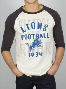 DETROIT LIONS Raglan vintage design T-SHIRT by Junk Food Men's Small NWT 70% off