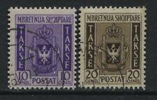 Albania 1940 10 and 20 qintars Postage Dues used