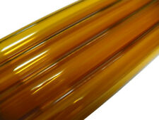 Glass - 33 COE - YTC - 25mm x 4mm Amber Tubing - Lampworking Glassblowing Torch