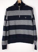 GANT Men Casual Zip Neck Sweater Jumper Size XL ASZ1064