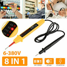 8 in 1 Electric Ac/Dc Voltage Probe Detector Pen Tester 6-380V Pocket-Sized Tool