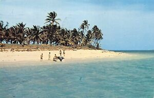1965 Sandy Cay Beach in The Bahamas Island - COOL BAHAMIAN STAMPS