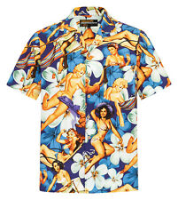 Herren Hawaii Hemd 100% Baumwolle S - 8XL Kurzarm Sommer Beach Hawaiihemd Shirt