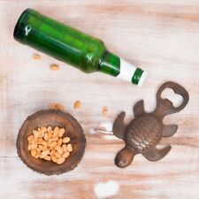 Vintage Cast Iron Mermaid Bottle Opener Turtle Bottle Opener Brown