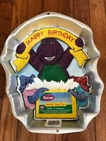 WILTON Barney Cake Pan Aluminum Happy Birthday Bakeware Collectible
